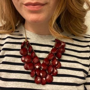 Wine colored beaded necklace
